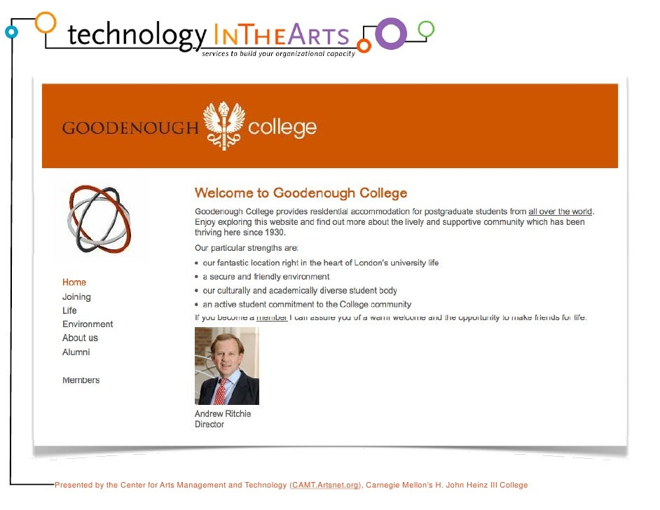 Technology Planning for Arts Managers Slide 3