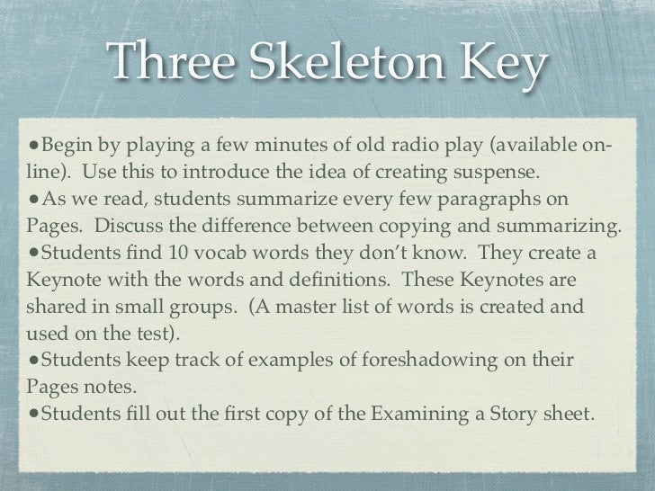 Mystery of tech three skeleton keybegin ccuart Choice Image