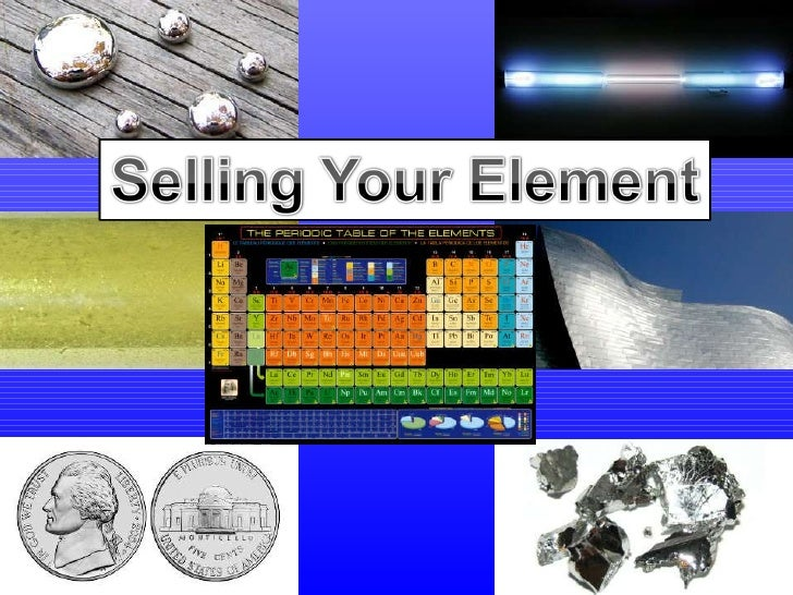 Selling Your ElementSelling Your Element