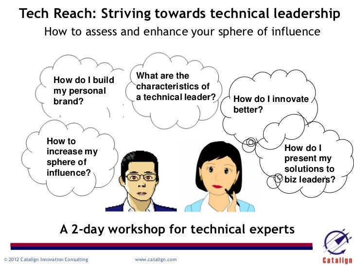 Tech Reach: Striving towards technical leadership                 How to assess and enhance your sphere of influence      ...