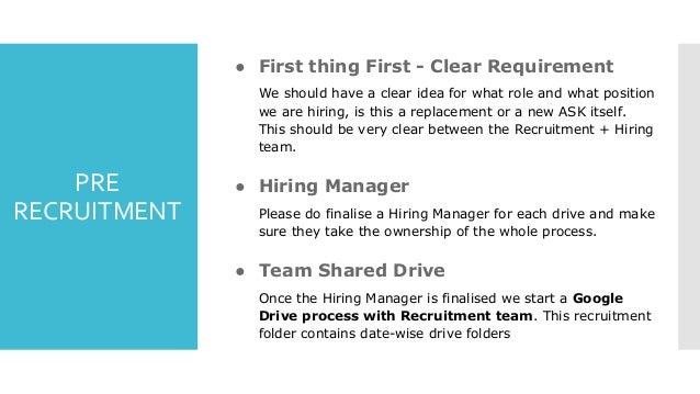 Tech Recruitment Process