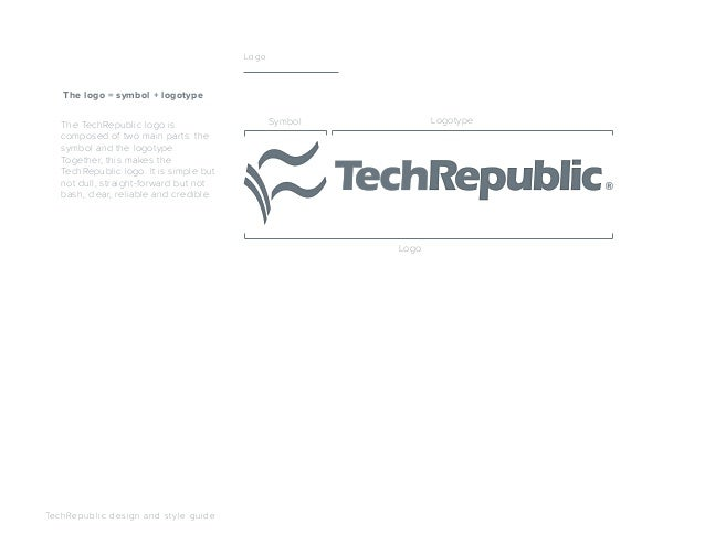 The TechRepublic logo is composed of two main parts: the symbol and the logotype. Together, this makes the TechRepublic lo...