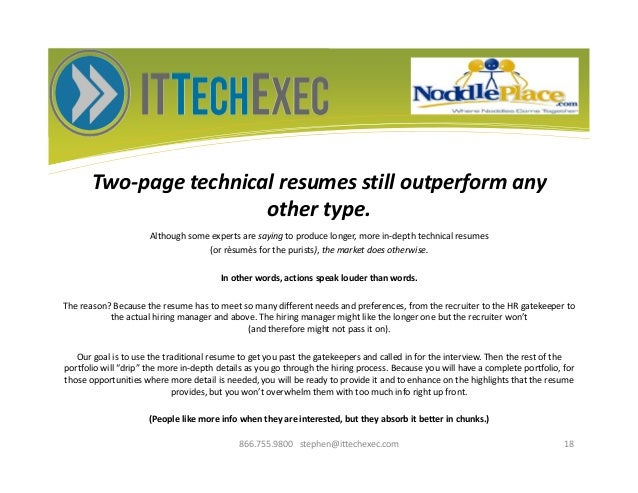 how to get a whole lot more than just another technical resume