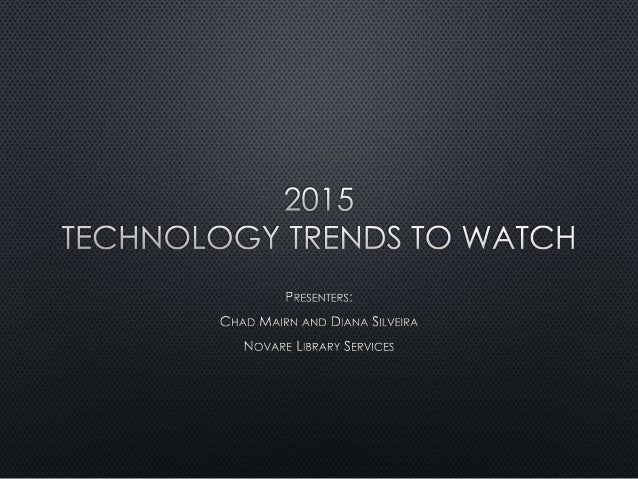 2015 Technology Trends to Watch