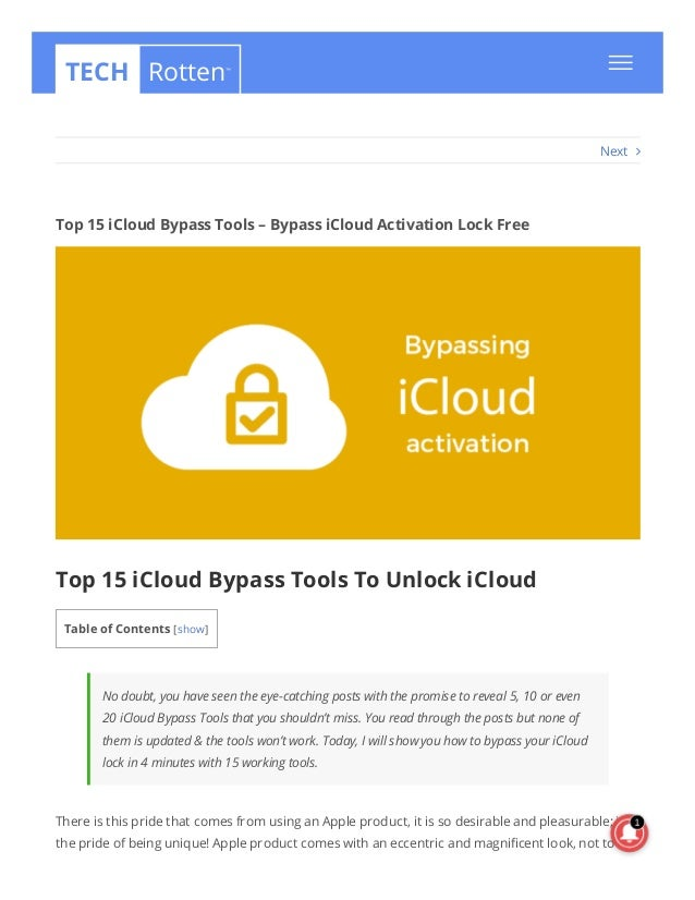 Top 15 iCloud Bypass Tools Free