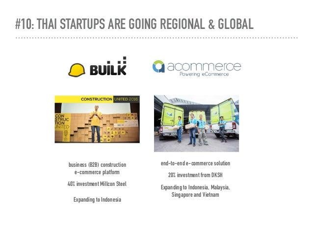 #10: THAI STARTUPS ARE GOING REGIONAL & GLOBAL business (B2B) construction  e-commerce platform 40% investment Millcon St...