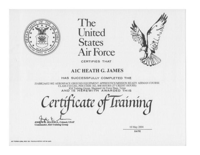 Tech school certificate