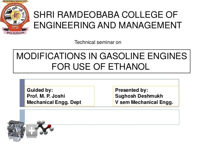 ethanol engine modifications