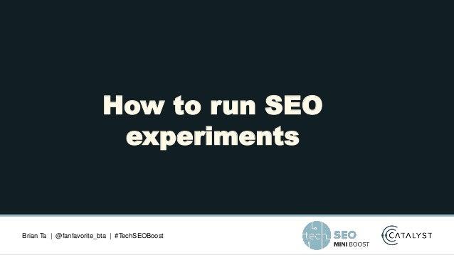 TechSEO Boost 2021 - SEO Experimentation Slide 2
