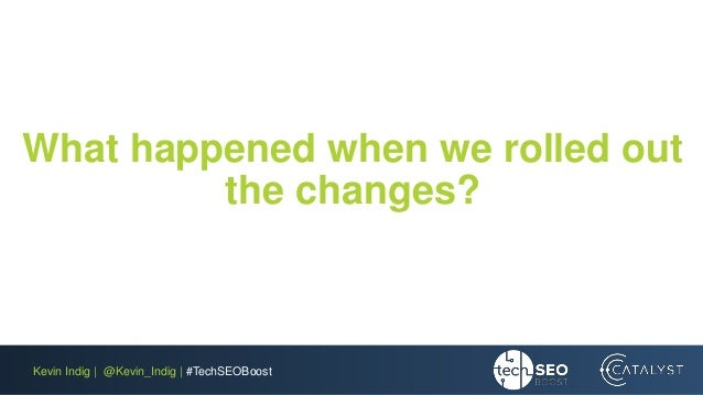 Kevin Indig | @Kevin_Indig | #TechSEOBoost What happened when we rolled out the changes?