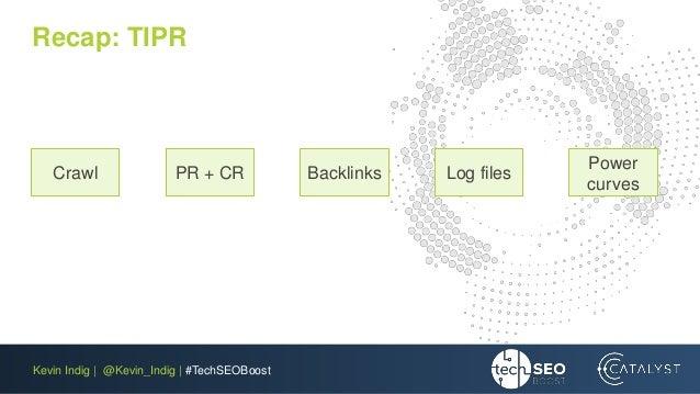 Kevin Indig | @Kevin_Indig | #TechSEOBoost Recap: TIPR Crawl PR + CR Backlinks Log files Power curves