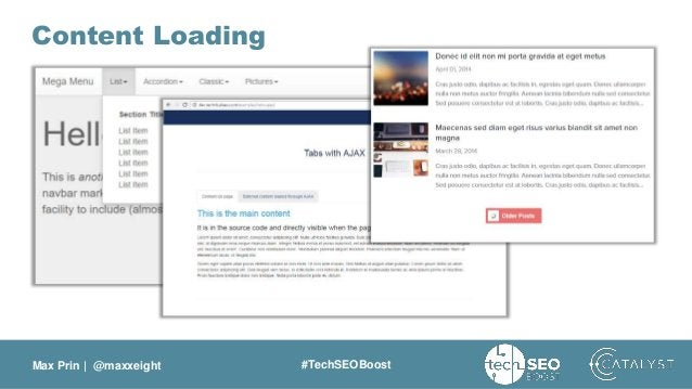 Max Prin   @maxxeight #TechSEOBoost Content Loading