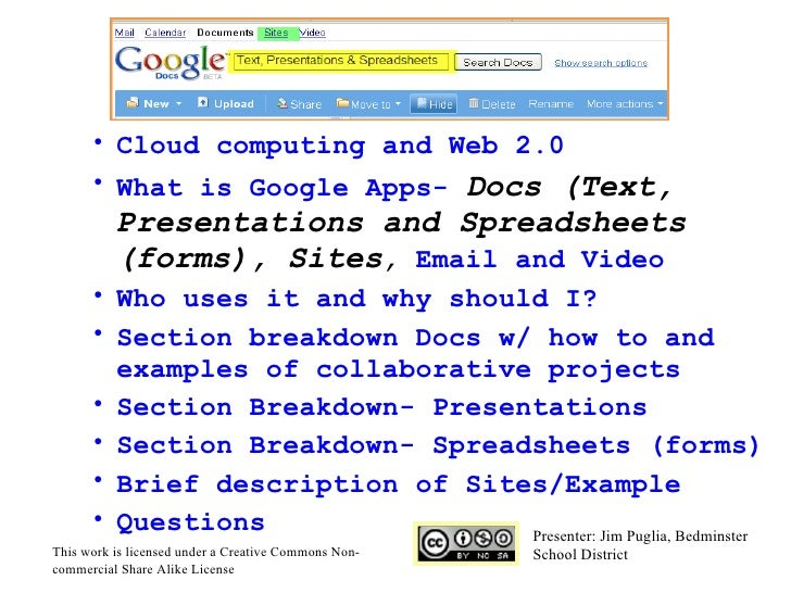 <ul><li>  </li></ul><ul><ul><li>Cloud computing and Web 2.0 </li></ul></ul><ul><ul><li>What is Google Apps-  Docs (Text, P...