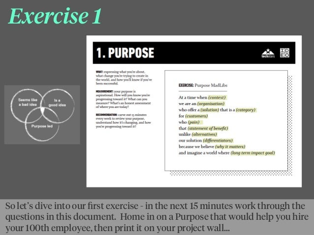 Exercise 1 So let's dive into our first exercise - in the next 15 minutes work through the questions in this document. Home...