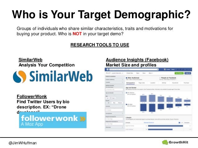 @JimWHuffman Who is Your Target Demographic? Groups of individuals who share similar characteristics, traits and motivatio...