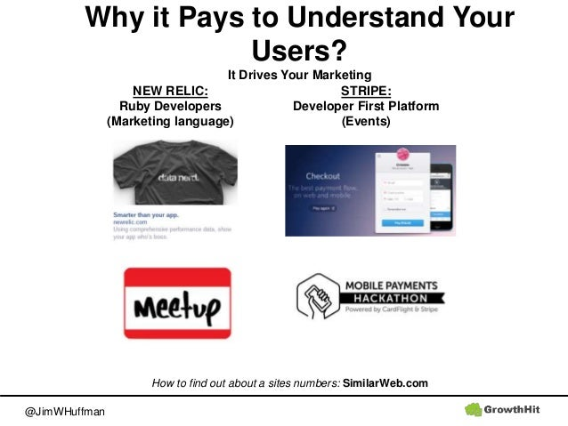 @JimWHuffman Why it Pays to Understand Your Users? It Drives Your Marketing How to find out about a sites numbers: Similar...