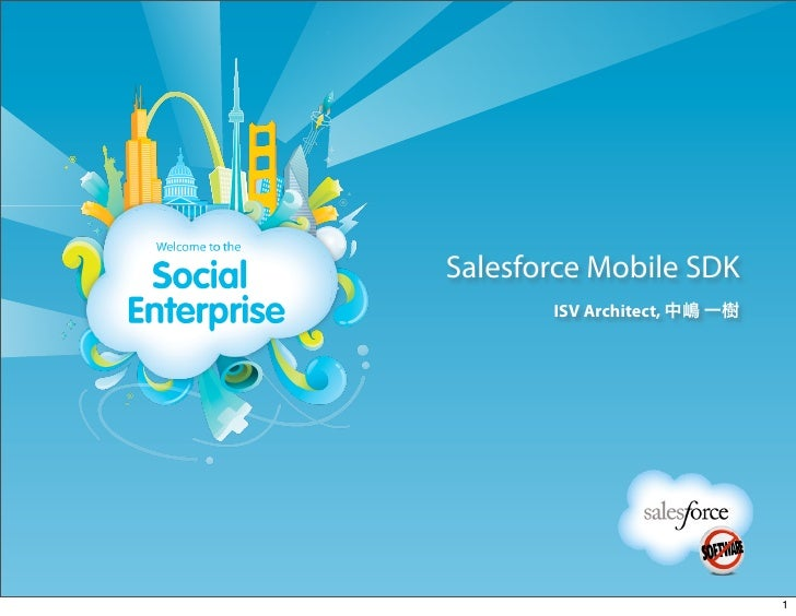 Salesforce Mobile SDK       ISV Architect, 中嶋 一樹                              1