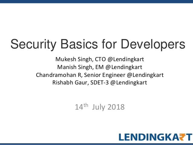 Ledingkart Meetup #3: Security Basics for Developers