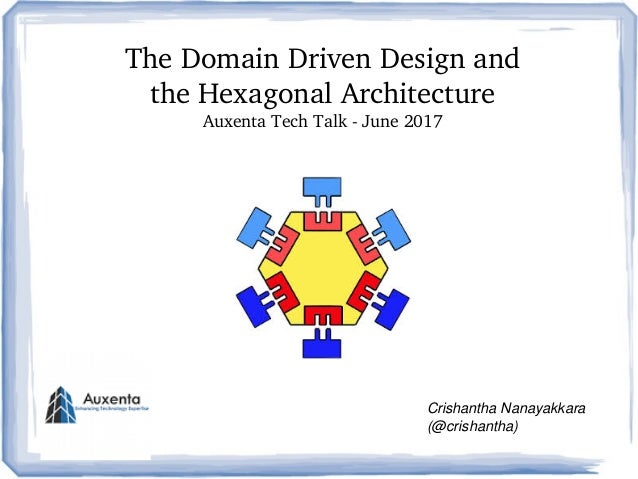 TheDomainDrivenDesignand theHexagonalArchitecture AuxentaTechTalkJune2017 CrishanthaNanayakkara (@crishantha)