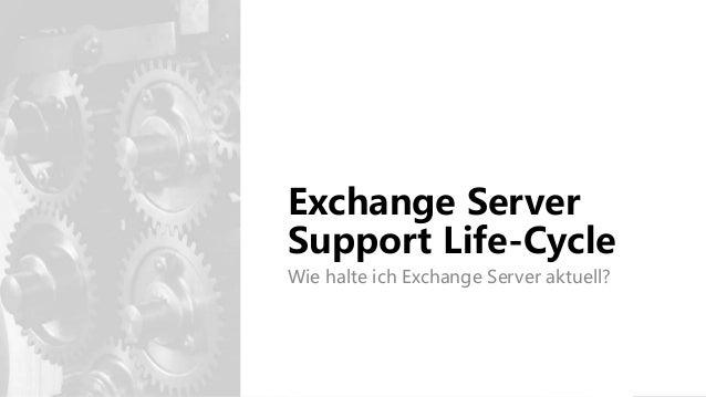 Exchange Server Support Life-Cycle Wie halte ich Exchange Server aktuell?