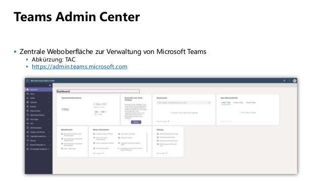 Tech Talk 13 - Teams Admin Center - Einführung Slide 3