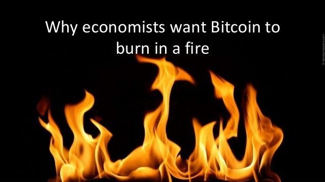 Why economists want Bitcoin to burn in a fire