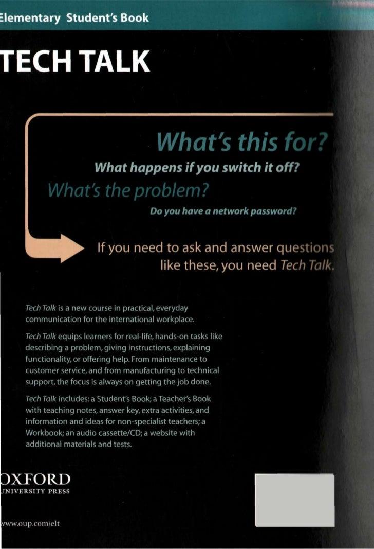 Tech Talk Elementary Oxford Pdf