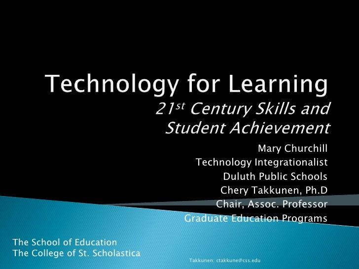 Mary Churchill                                    Technology Integrationalist                                         Dulu...