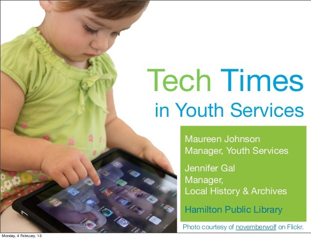 Tech Times                         in Youth Services                            Maureen Johnson                           ...