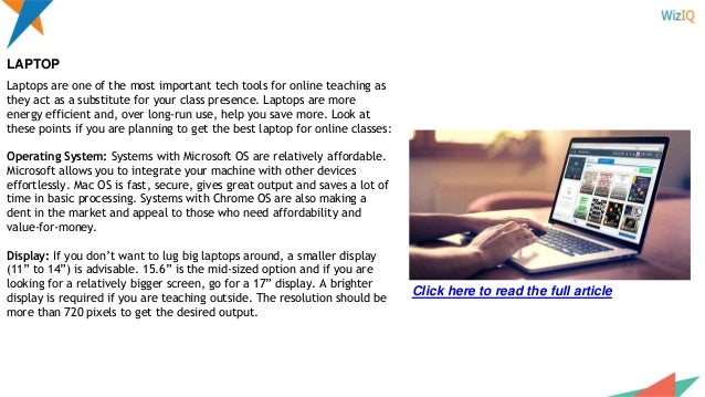 4b7f1ee7f24 ... Infinity INTERNET  4. Laptops are one of the most important tech tools  for online teaching ...