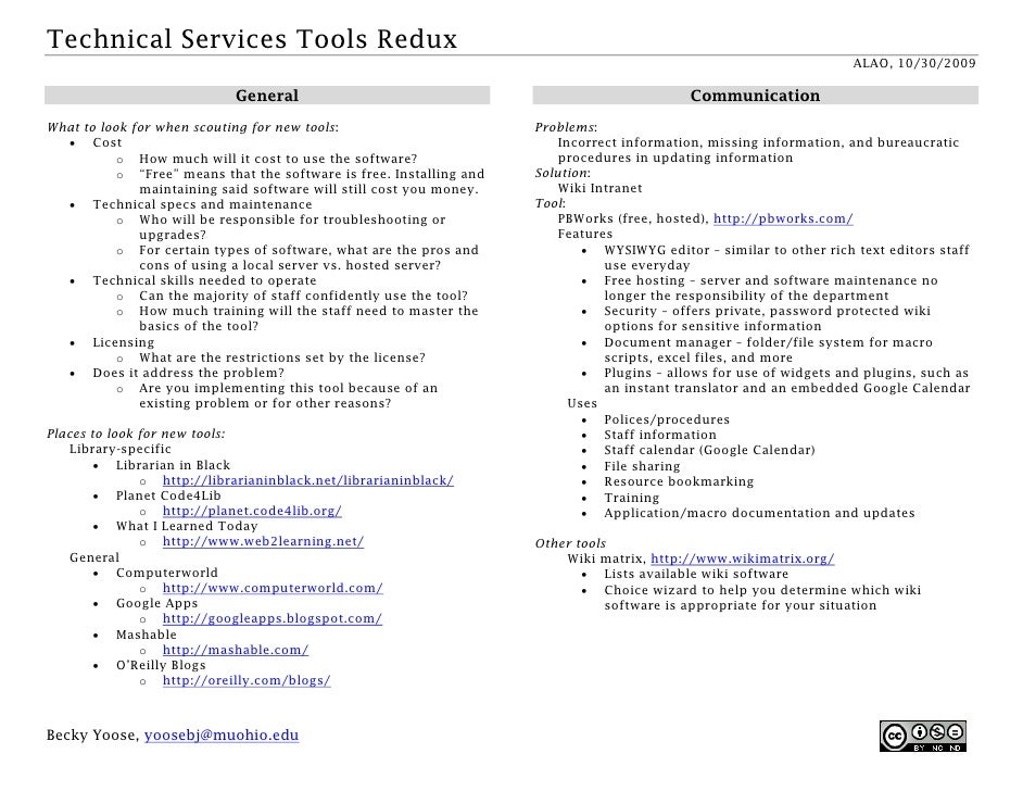 Technical Services Tools Redux                                                                                            ...