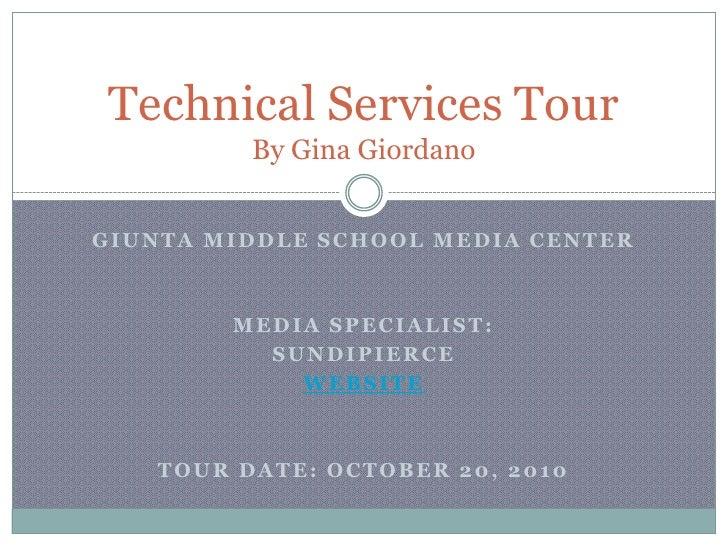 Giunta Middle School Media Center<br />Media Specialist:<br />SundiPierce<br />Website<br />Tour Date: October 20, 2010<br...