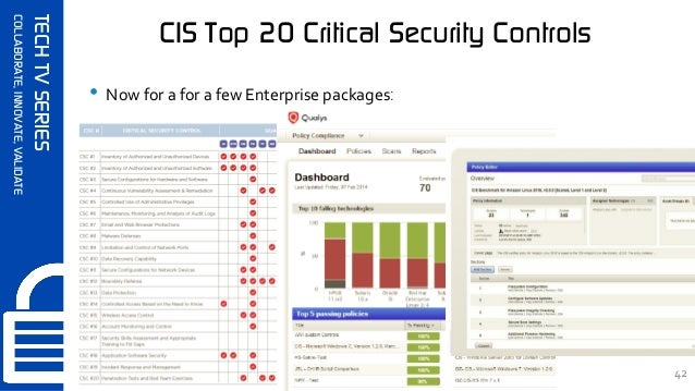 SynerComm's Tech TV series CIS Top 20 Critical Security