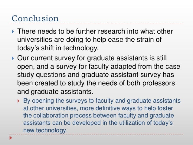 Conclusion There needs to be further research into what otheruniversities are doing to help ease the strain oftoday's shi...