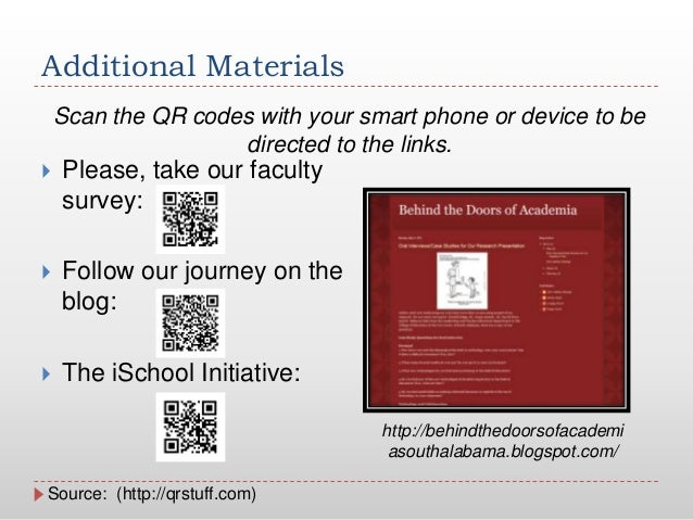Additional Materials Please, take our facultysurvey: Follow our journey on theblog: The iSchool Initiative:Source: (htt...