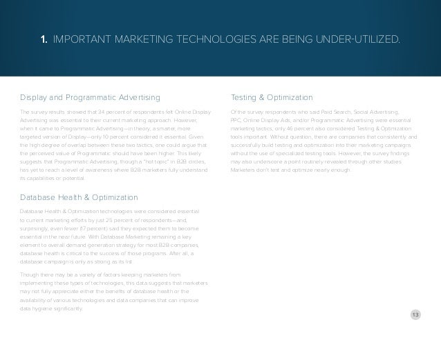 13 Display and Programmatic Advertising The survey results showed that 34 percent of respondents felt Online Display Adver...