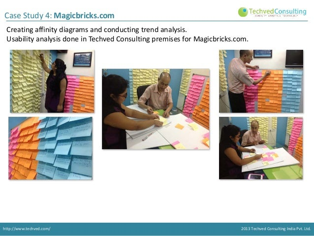 Case Study 4: Magicbricks.com Creating affinity diagrams and conducting trend analysis. Usability analysis done in Techved...