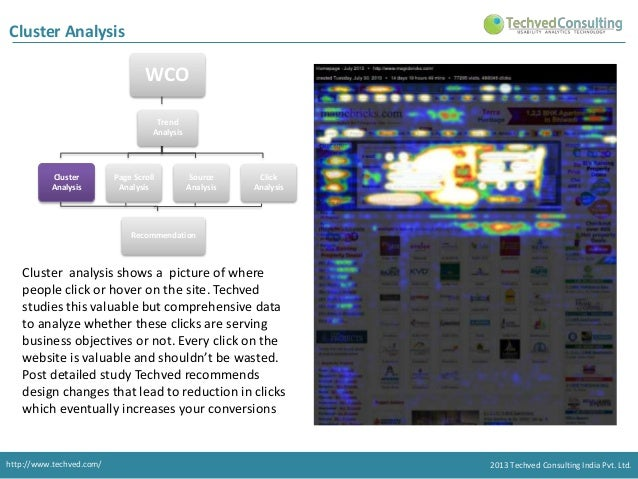 Cluster Analysis  WCO  Trend Analysis consist of 4 types of Analysis. Trend Analysis  Cluster Analysis  Page Scroll Analys...