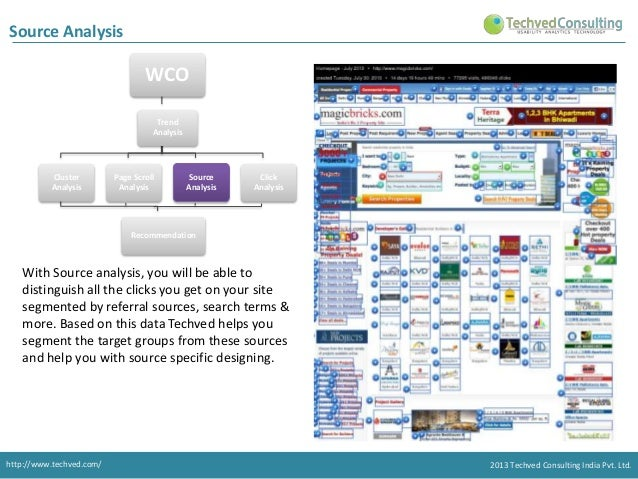 Source Analysis  WCO  Trend Analysis consist of 4 types of Analysis. Trend Analysis  Cluster Analysis  Page Scroll Analysi...