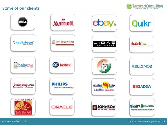 Some of our clients  http://www.techved.com/  2013 Techved Consulting India Pvt. Ltd.