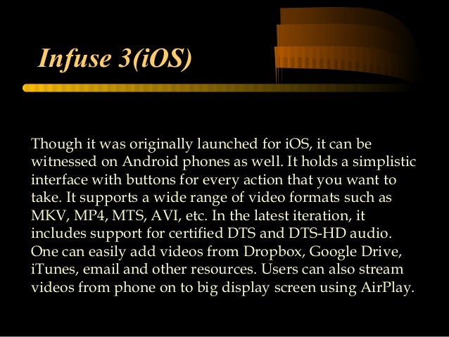 Techvedic support top media players for Android and IOS