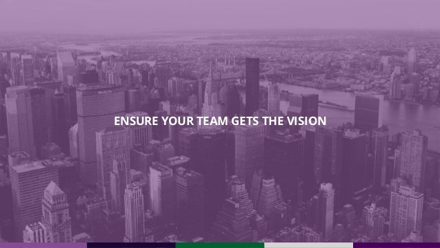ENSURE YOUR TEAM GETS THE VISION