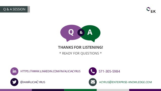 * READY FOR QUESTIONS * Q A& THANKS FOR LISTENING! Q & A SESSION HTTPS://WWW.LINKEDIN.COM/IN/ALICIACYRUS @IAMALICIACYRUS 5...