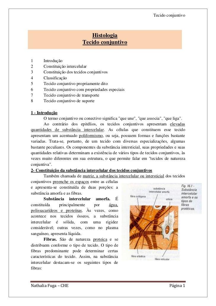 Tecido conjuntivo                                Histologia                             Tecido conjuntivo1      Introdução...