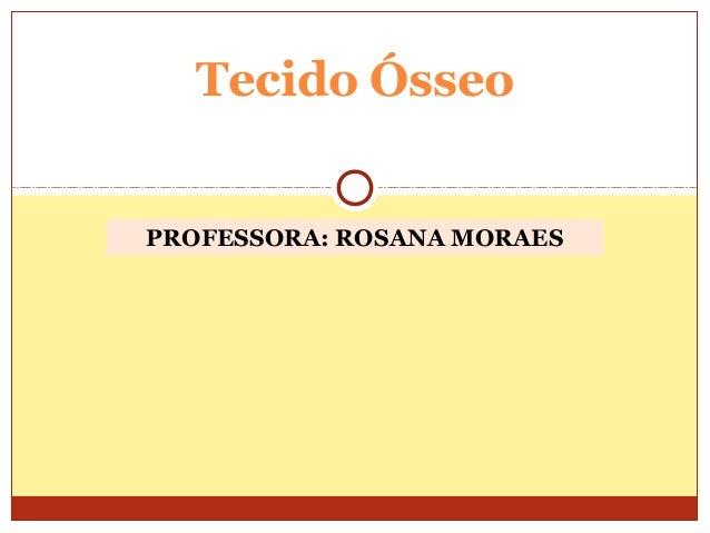 PROFESSORA: ROSANA MORAESTecido Ósseo