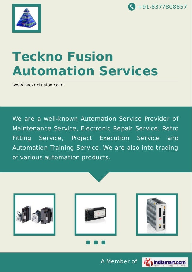 +91-8377808857  Teckno Fusion Automation Services www.tecknofusion.co.in  We are a well-known Automation Service Provider ...