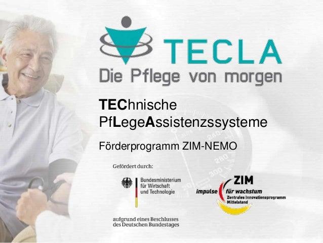 TEChnische PfLegeAssistenzssysteme Förderprogramm ZIM-NEMO