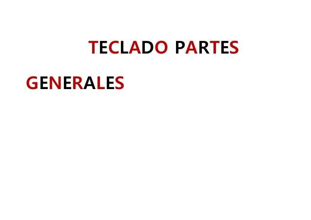 TECLADO PARTES GENERALES