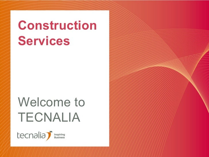 ConstructionServicesWelcome toTECNALIA