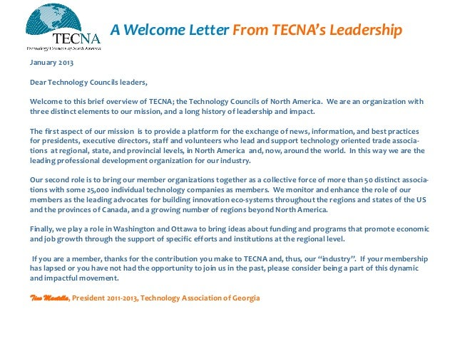 Technology company welcome letter to new employees Coursework